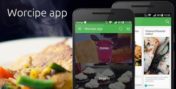 دانلود سورس کد اندروید Worcipe App - بپرسمدانلود سورس کد اندروید Worcipe App