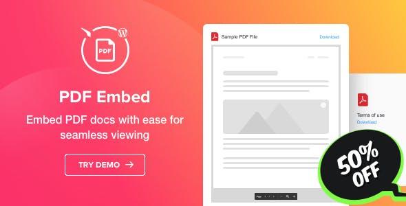 افزونه PDF Embed